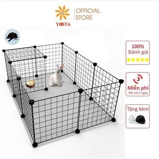 Combo 12 Tấm Lưới Sắt Lắp Ghép Quây Chuồng Thú, Lồng Quây Chó Mèo Hamsters ( Tặng Kèm Chốt ) thumbnail