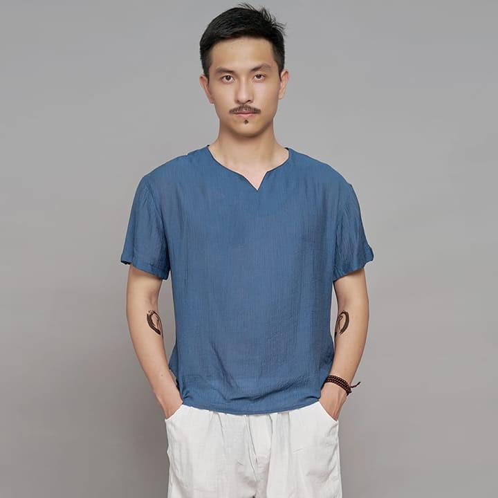 Áo thun ngắn tay chất đũi mềm, xốp, nhẹ nhàng, mát mẻ, 5 màu dễ dàng lựa chọn