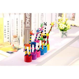 Wooden giraffe toys