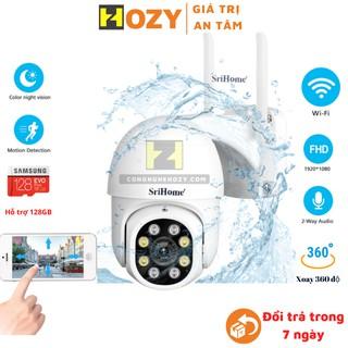 Camera wifi ngoài trời chống nước PTZ Srihome quay đêm có màu, xoay 360 độ FullHD1080 thumbnail