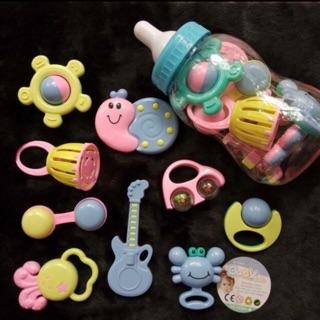 Bộ đồ chơi 9 chi tiết hình bình sữa cho trẻ sơ sinh