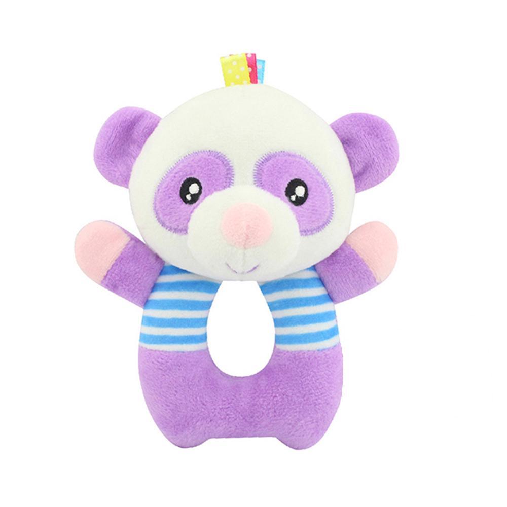 Kids Baby Animal Handbell Toy Cartoon Panda O-shape Doll Bed Bells Wrist Rattle