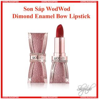 Son Sáp WodWod Diamond Enamel Bow Lisptick Chính Hãng Nội Địa Trung No.W742