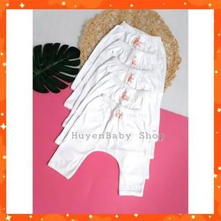 (Sale off) Quần dài mặc bỉm màu trắng Baby Moon cho bé từ sơ sinh đến 9kg thumbnail