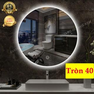 ( giá sỉ ) gương tròn đèn led cảm ứng 3 chạm Kích thước tròn D40 – guonghoangkim mirror