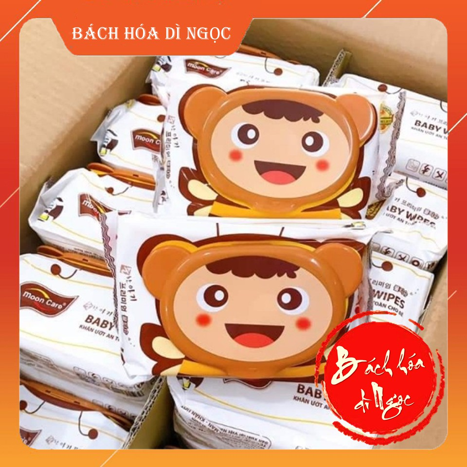 Khăn giấy ướt Moon Care Baby Wipes (125 Miếng / 750g) [Mua 8 có quà] - Không cồn, không mùi, an toàn và dịu nhẹ cho bé