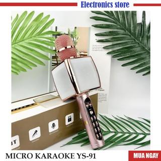 Micro karaoke Bluetooth Hát Karaoke ys 91 Tích Hợp Loa Bass Hay , Cực Bắt Giọng, Âm Thanh Trong Lớn, Gắn Usb, Thẻ Nhớ