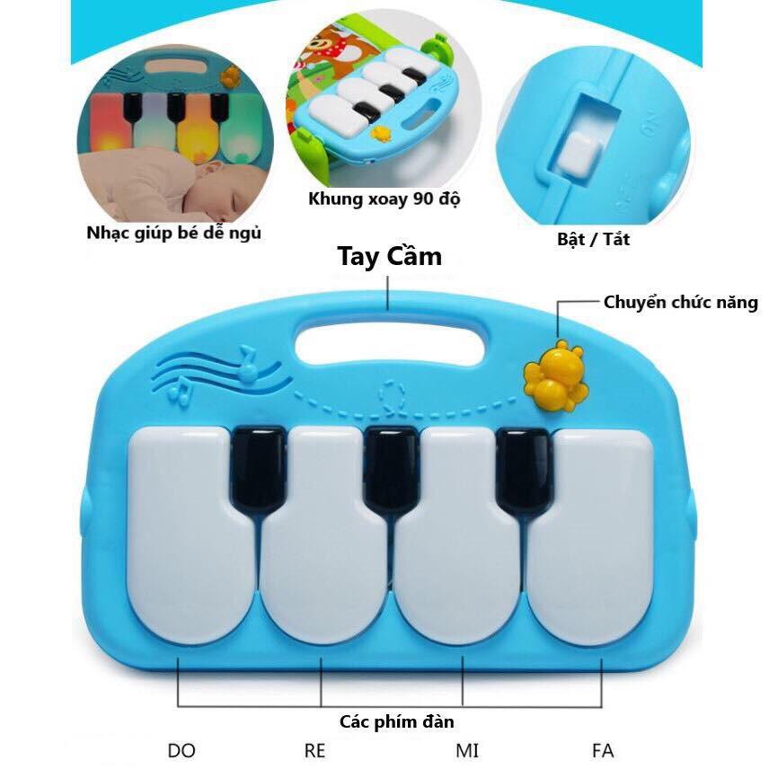 THẢM NHẠC CAO CẤP VƯỜN BÁCH THÚ CÓ ĐÀN PIANO CHO BÉ TỪ 0-18 THÁNG TUỔI