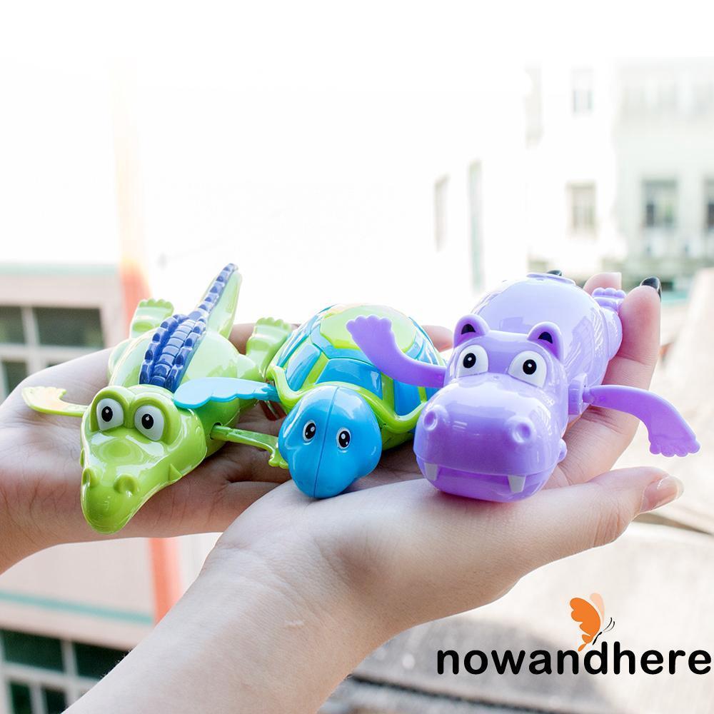 VWW-Pudcoco New Arrival Wind up Swim Turtle/Hippopotamus/Crocodile Pool Animal