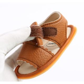 Giày sandal tập đi cao cấp cực chất đế cao su chống trơn trượt chất da mềm mại đính nơ dễ thương cho bé gái.Loại 1 4