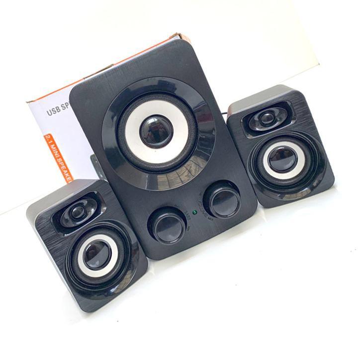 Loa vi tính mini cho máy tính, điện thoại bass ấm TREBLE 2.1