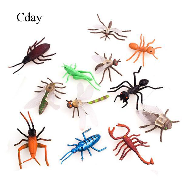 12PCS Mini Simulation Insect Toys for Kids Boys Educational Supplies Random C212
