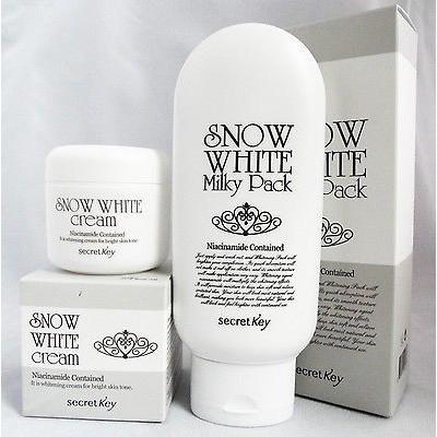Bộ mỹ phẩm tắm trắng Snow White Milky Pack và Snow White Cream