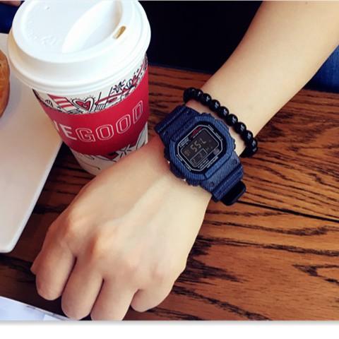 [Mã WTCHNOV20 giảm 20K đơn 99K] Đồng hồ điện tử nam nữ Sanda 329 hàng chính hãng dây cao su