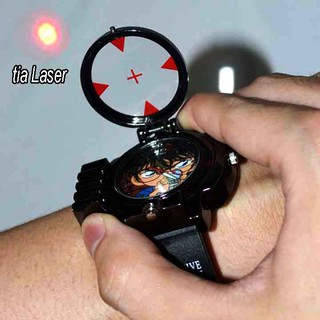 Đồng hồ trẻ em bé trai Conan đeo tay bắn laser
