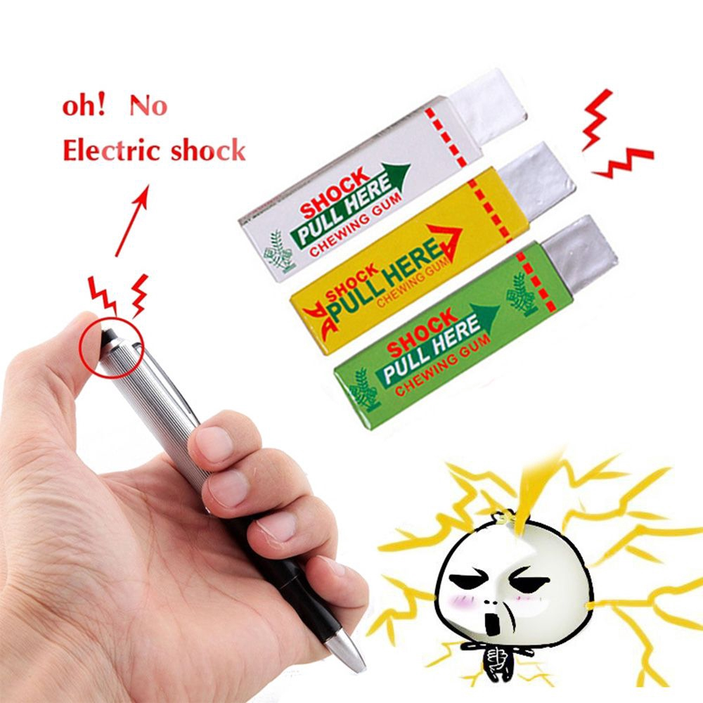 Novelty Funny Gum Gripper Flashlight Electric Shock Toy