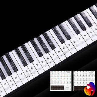 Transparent Piano Keyboard Sticker 88 Keys Electronic Keyboard Piano Sticker