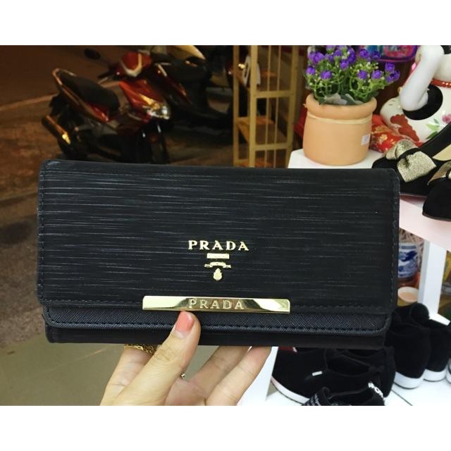 Ví dài nữ Prada - 3413661 , 696837827 , 322_696837827 , 180000 , Vi-dai-nu-Prada-322_696837827 , shopee.vn , Ví dài nữ Prada