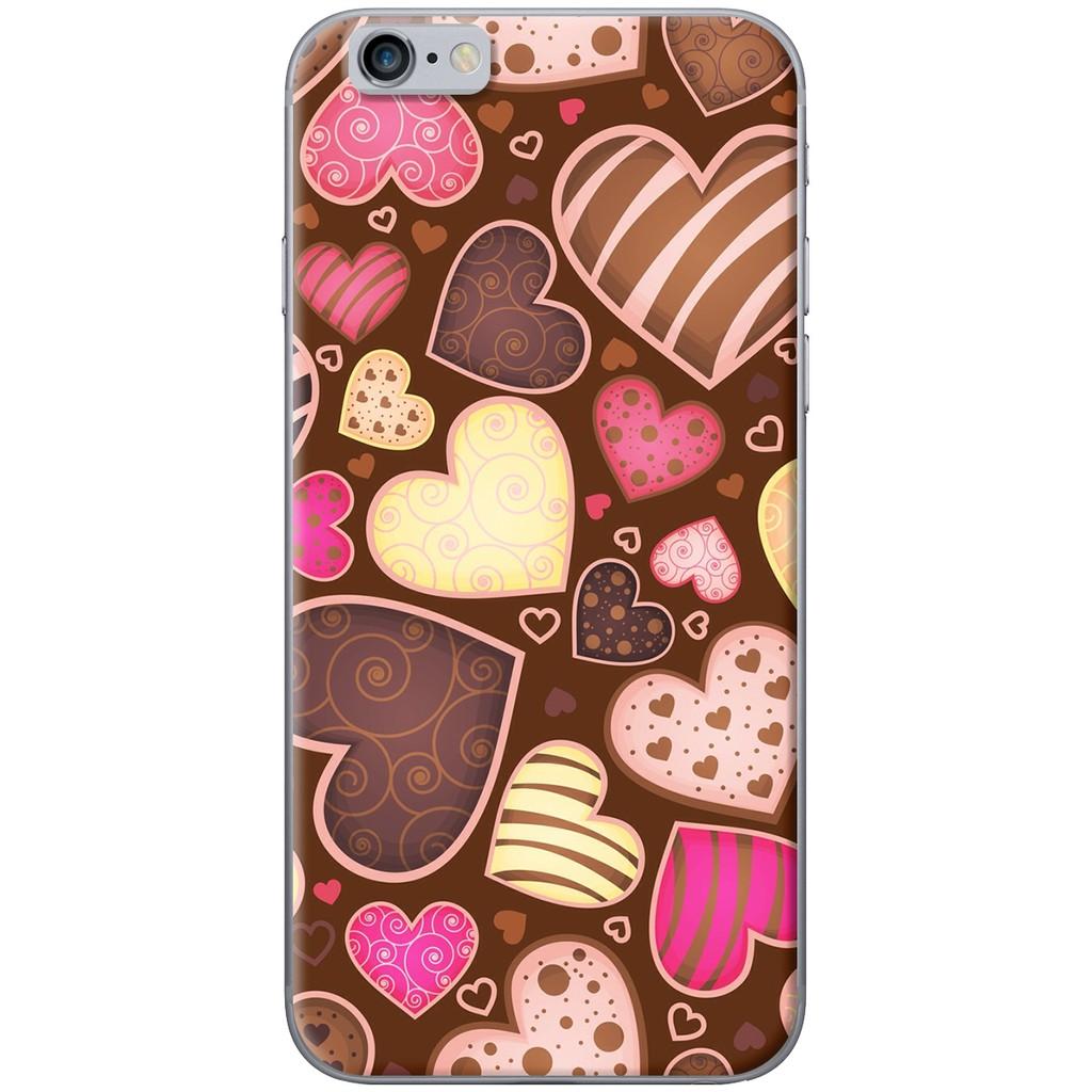 Ốp lưng nhựa dẻo Iphone 6, Iphone 6 Plus Trái tim socola