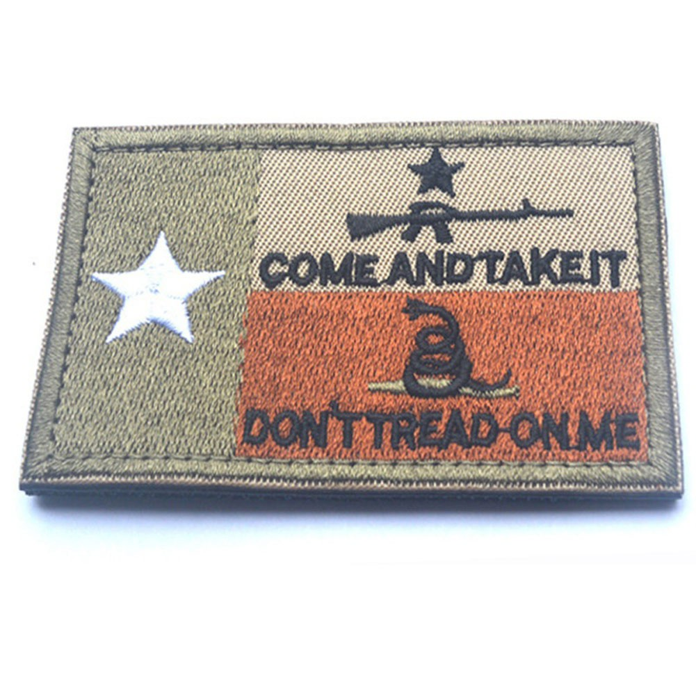 ♥superH♥Simple Fashion Embroidery Armband Texas State Flag Two-sided Removable Magic Patch For Clothes Backpacks Hats
