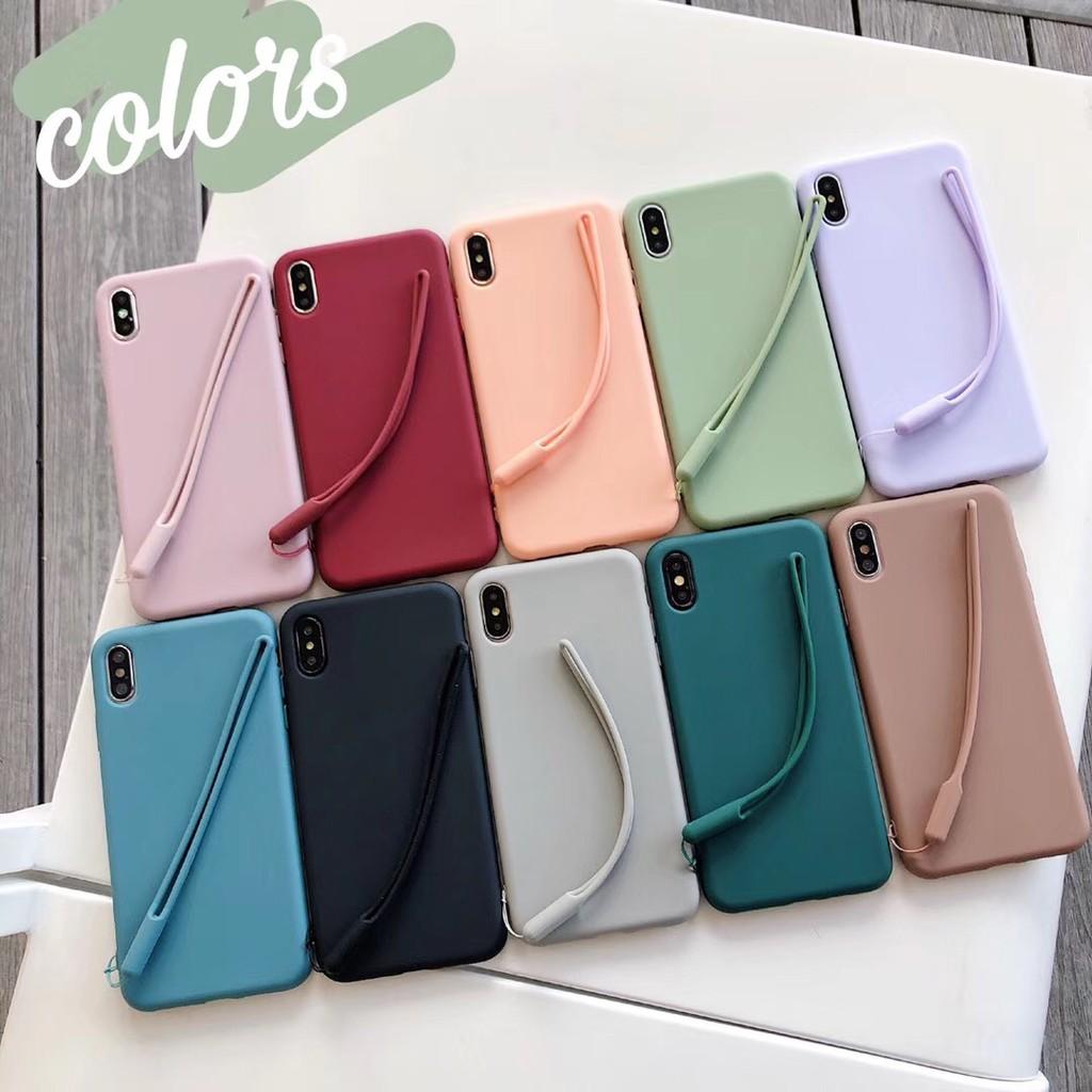 Ốp điện thoại trơn màu kẹo ngọt xinh xắn cho iPhone 6 6S 6S+ 6+ 7 8 7+ 8+ X XS
