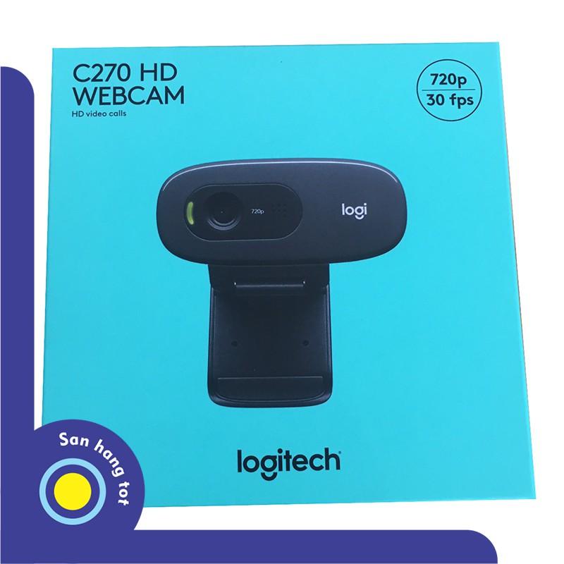 Webcam cao cấp Logitech C270 – chuẩn HD 720p – Bảo hành 02 năm chính hãng Giá chỉ 490.000₫