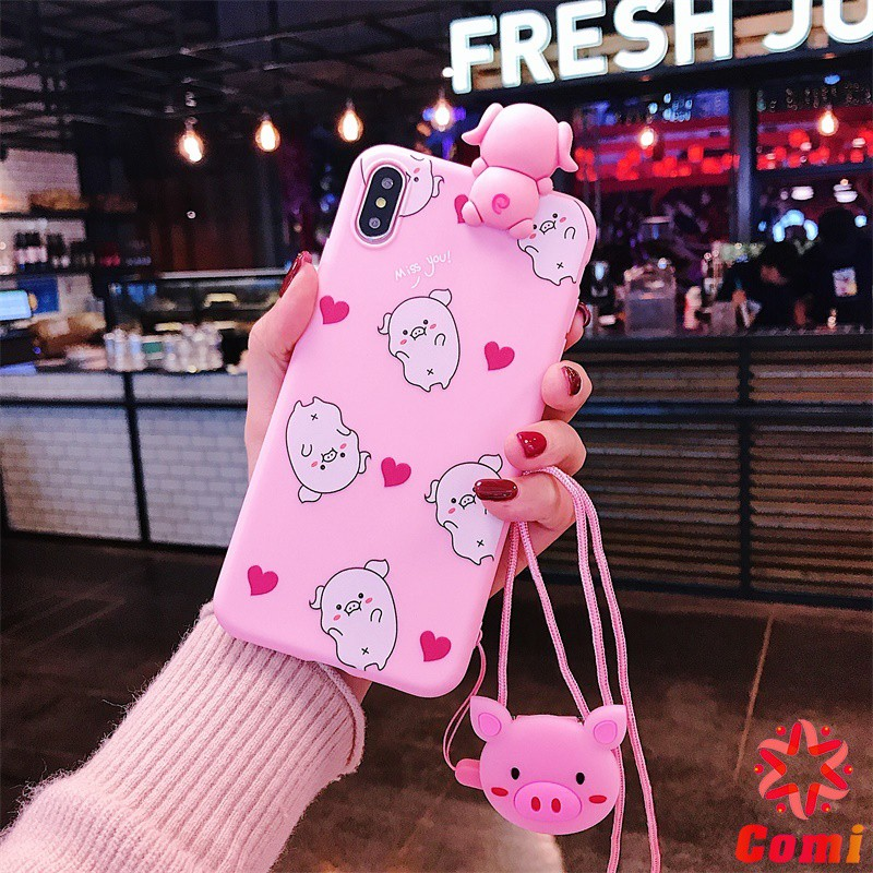 hX OPPO A77 A79 A83 A3 A5 (A3S) A37 A39 A59 (F1S) A71 A73 Cartoon Pig Soft Phone Case Soft Cover