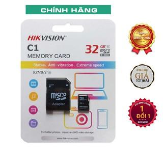 [Mã ELFLASH5 giảm 20K đơn 50K] Thẻ nhớ HIKVISION Class 10 SDHC 32GB Chính hãng - Tặng kèm adapter đọc thẻ nhớ cho laptop
