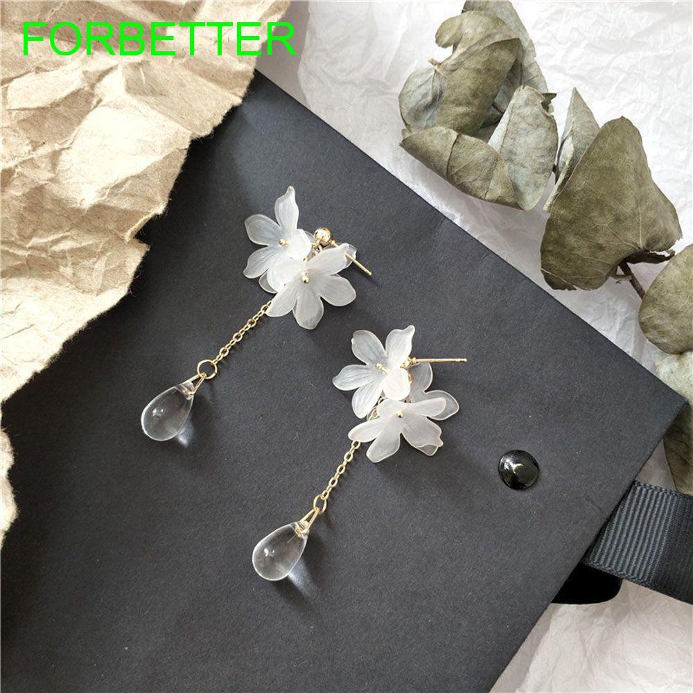 Bông tai hình hoa cúc đính đá thời trang
