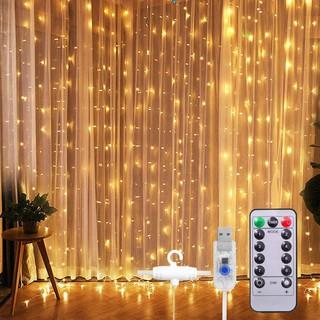 [Dùng USB] Đèn Đom Đóm LED FairyLight Thả Rèm Mưa, Thả Mành Trang Trí Phòng Ngủ, Nhà Cửa Siêu Lung Linh (Có Điều Khiển)