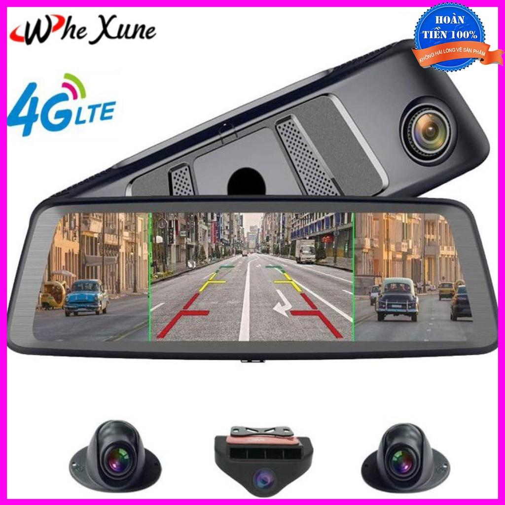 Camera hành trình 360 độ, thương hiệu cao cấp Whexune K950 tích hợp 4 camera, Android, Wifi, GPS, màn hình 10 inch