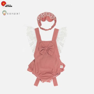 Bộ đồ Romper cánh tiên cho bé gái trẻ sơ sinh màu hồng 2 chi tiết BABYWANT thumbnail