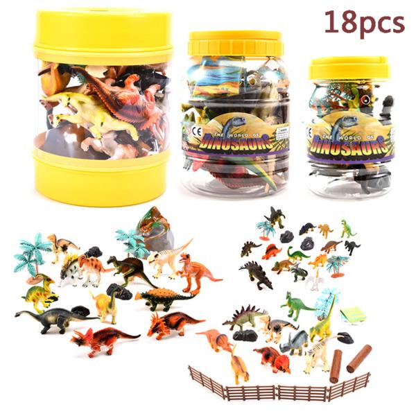 18 Pcs/Set Children Simulate Dinosaur World Tyrannosaurus Dragon Dinosaur Toys Model Animal Model