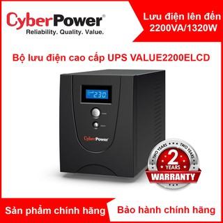 Bộ Lưu Điện CyberPower VALUE2200ELCD 2200VA 1320W Chính hãng new 100%(đã có ắc quy) thumbnail