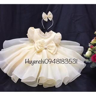 Váy công chúa voan Hàn kèm cài tóc