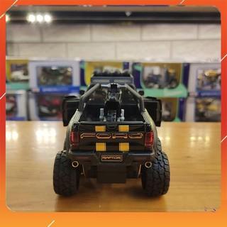 [SIÊU XE] Xe Mô hình Ô Tô Ford F150 Raptor 6×6 Tỉ Lệ 1:28 Màu Đen