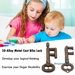 ♥DSP♥3D Alloy Metal Cast Key Ring Puzzle Toy Kids Adult IQ Mind Brain Teaser Box