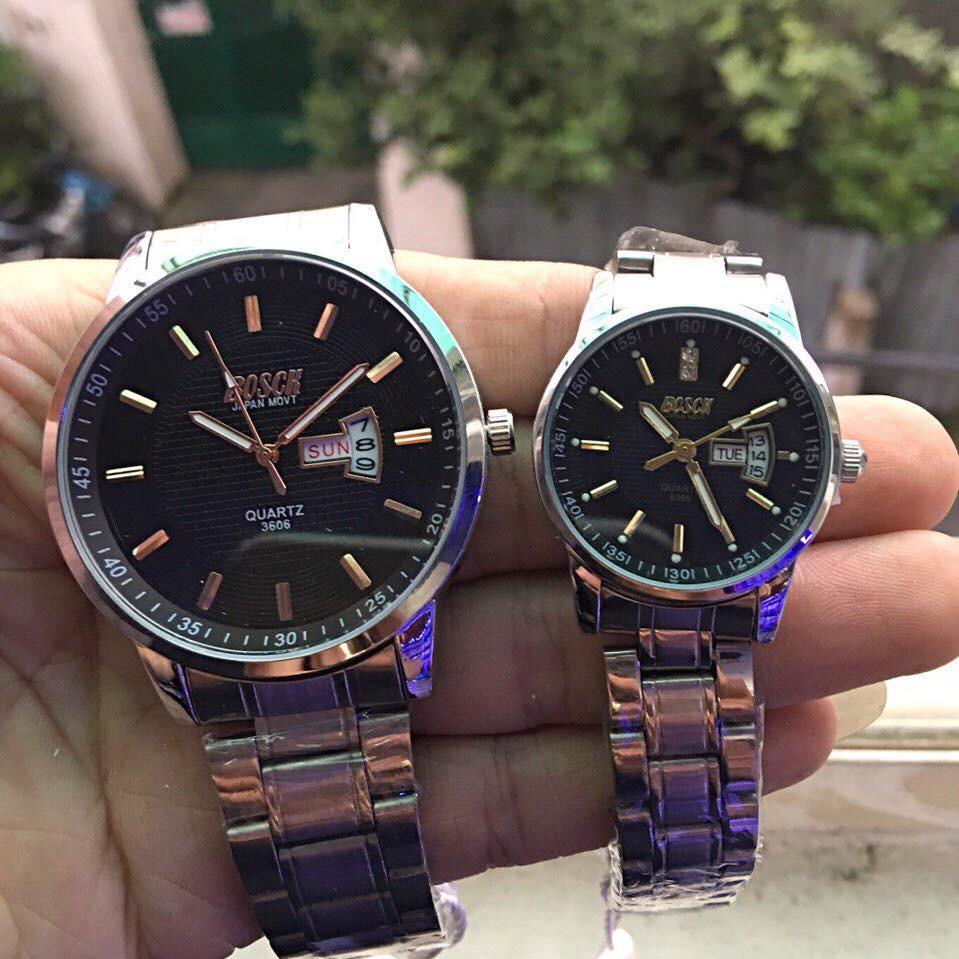Đồng hồ cặp Bosck mặt đen