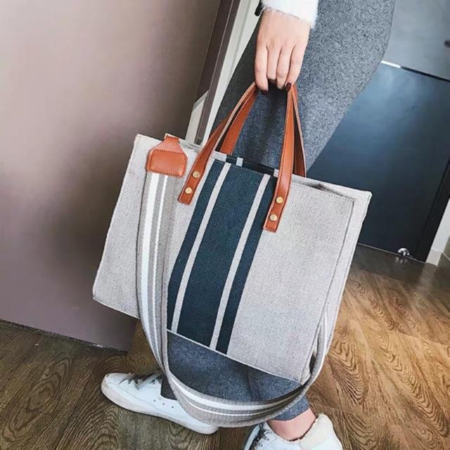 Túi sọc canvas Hàn Quốc dây chéo bằng vải Canvas kèm hình thật- miễn phí vận chuyển