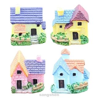 4pcs Landscape DIY Craft European Style Birthday Gift Bonsai Garden Decor Villa Miniature Dollhouse