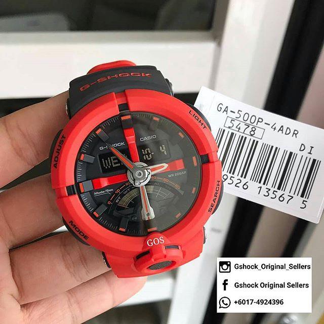 Đồng hồ nam Casio G-SHOCK GA-500P-4ADR – NAM – QUARTZ (PIN) – Dây cao su