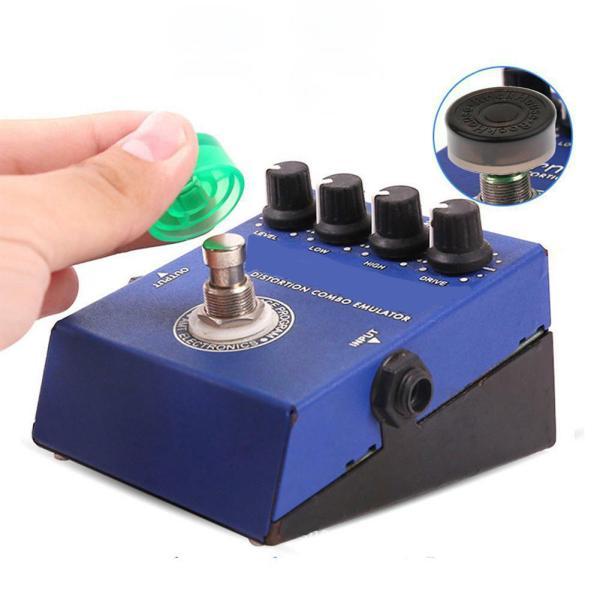 3 Pcs Guitar Effect Foot Nail Cap Protection Cap for Guitar Effects Pedal