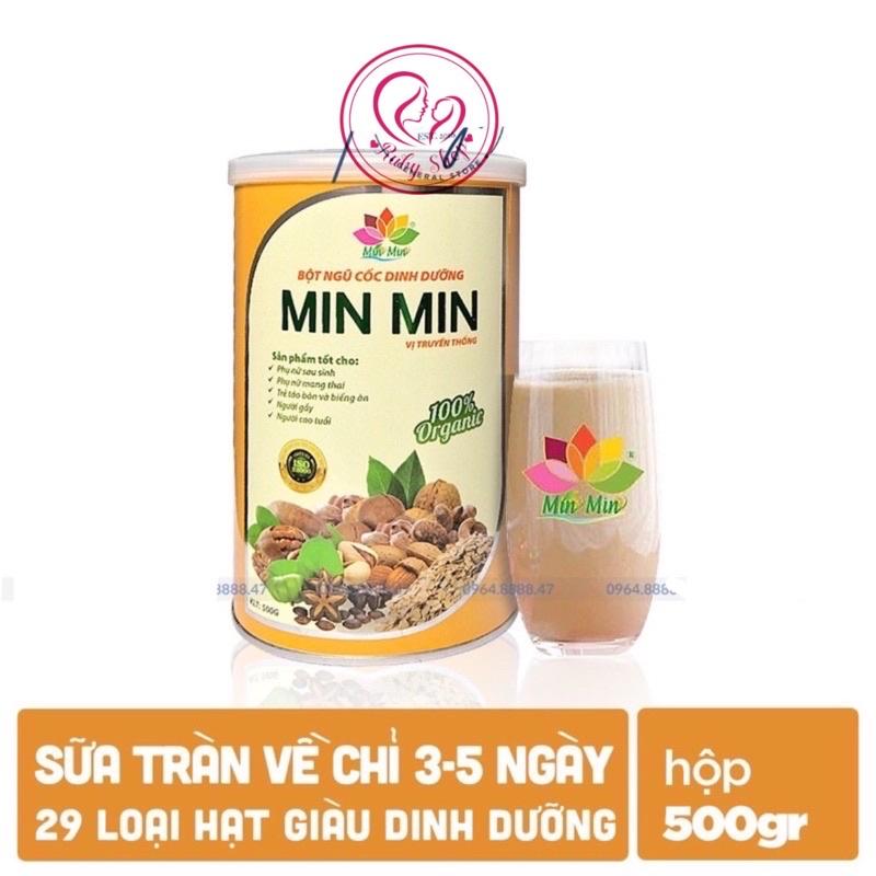 Ngũ cốc lợi sữa Min min (2 hộp 500g) nhập khẩu