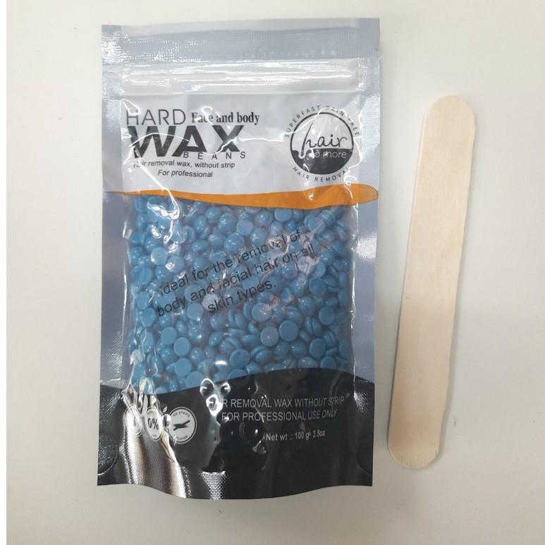 100g Sáp wax tẩy lông nóng dạng hạt đậu tặng kèm que wax khi mua, nhiều để lựa chọn, hình ảnh thực