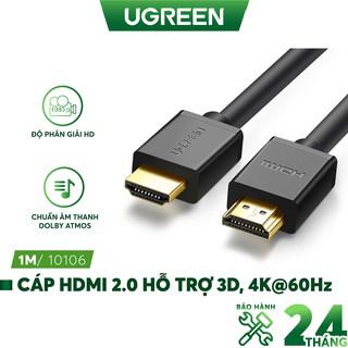 Dây HDMI 1.4 thuần đồng 19+1, độ dài từ 1-5m UGREEN HD104