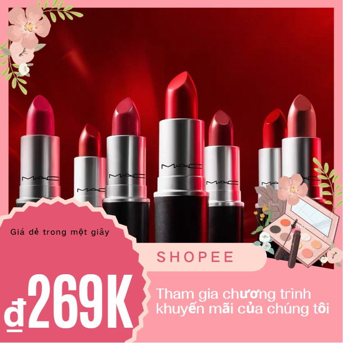 Son MAC RUBYWOO/CHILI/MARRAKESH/DEVOTED CHILI/LADYDANGER/MULL IT OVER siêu hot- Gom Sale Có Bill