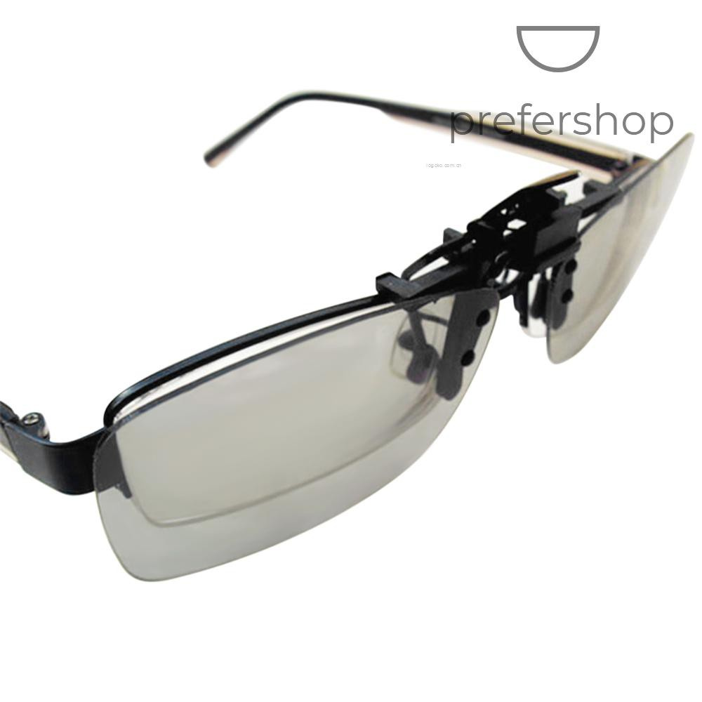 CL01 Clip-on Passive 3D Glasses Circular Polarized Lenses for Polarized TV Real D 3D Cinemas for Panasonic