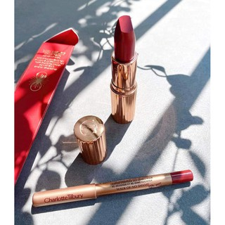 Set Son Charlotte Tilbury Walk of No Shame Lipstick and Liner Set