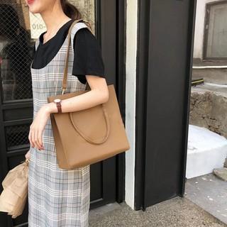 (Kèm ví nhỏ) Túi Tote da nữ đeo vai- Da PU cao cấp, Dáng vuông, Size 28 vừa A4, Đeo vai, 2 màu lựa chọn- KARA 391