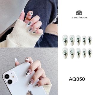 Nail Art Decorations Mixed Size Dollar Money Fake Nails Tips Manicure